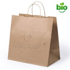 Saco Papel NaturPack 32+20x31cm p/ Take Away Un.