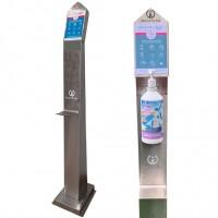 Torre Inox para Dispensador Desinfetante