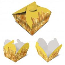 Caixa para batata frita Malmequer/ Dim. 16x12x6cm Embalagem 500 Un.
