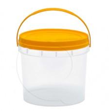 Balde Transparente com Asa e Tampa Plástica 3.8L un.