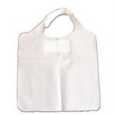 Babetes de Plástico 38.3x48 Branco Emb. c/ 500 Un.