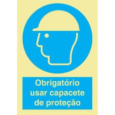 Sinal Capacete de Protecção PVC Fotolum Un.