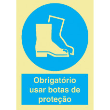 Sinal Botas de Protecção PVC Fotolum Un.